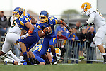 BROOKINGS, SD - SEPTEMBER 14:  Dom Wright #10 from South Dakota State University returns a kickoff against Southeastern Louisiana in the first quarter of their game Saturday night at Coughlin Alumni Stadium in Brookings. (Photo by Dave Eggen/Inertia)