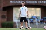 13 September 2016: UNC assistant coach Grant Porter. The University of North Carolina Tar Heels hosted the East Tennessee State University Buccaneers at Fetzer Field in Chapel Hill, North Carolina in a 2016 NCAA Division I Men's Soccer match. ETSU won the game 1-0 in sudden death overtime.