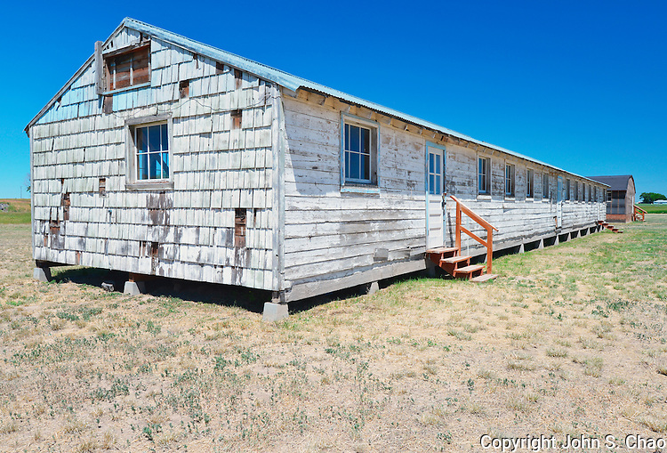 Minidoka National Historic Site's Block 22 Barracks, used for forcible internment of Japanese-American citizens during World War II. Jerome, Idaho.