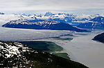 DOH, Who Were the First Americans. Southeast Alaska. Aerial view of Taku glacier, Hunt for the First Americans.