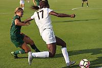 BERKELEY, CA - August 19, 2016:  Cal Bears Women's Soccer team vs. the Cal Poly Mustangs at Goldman Field.  Final score, Cal Bears 1, Cal Poly 0