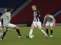 Ross Millen takes on Bahrudin Atajic as Callum McGregor watches in the Dunfermline Athletic v Celtic Scottish Football Association Youth Cup Final match played at Hampden Park, Glasgow on 1.5.13. ..