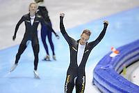 SCHAATSEN: HEERENVEEN: IJsstadion Thialf, 11-11-2012, KPN NK afstanden, Seizoen 2012-2013, 1000m Heren, Nederlands kampioen, Kjeld Nuis, ©foto Martin de Jong
