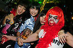 Kaohsiung, Taiwan -- Halloween party-goers during a performance of local band DSR at the Brickyard Beer Garden.