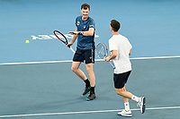 7th January 2020; Sydney Olympic Park Tennis Centre, Sydney, New South Wales, Australia; ATP Cup Australia, Sydney, Day 5; Great Britain versus Moldova;Jamie Murray and Joe Salisbury of Great Britain versus Alexander Cozbinov and Radu Albot of Moldova; Jamie Murray and Joe Salisbury  of Great Britain reacts after winning a point in their match against Alexander Cozbinov and Radu Albot of Moldova - Editorial Use