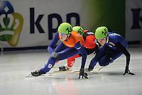 SCHAATSEN: DORDRECHT: Sportboulevard, Korean Air ISU World Cup Finale, 11-02-2012, Jorien ter Mors NED (144), Soo-Min Son KOR (141), ©foto: Martin de Jong