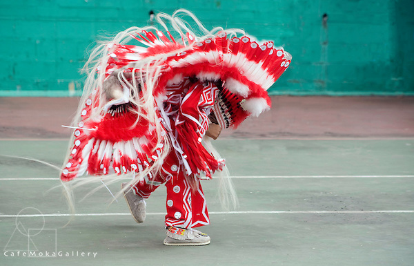 Trinidad Carnival, Junior Preliminaries, Dancing red and white Indian