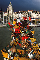 France/17/Charente Maritime/La Rochelle: Le vieux port et la tour de l'horloge