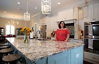 NWA Democrat-Gazette/DAVID GOTTSCHALK  Brittany Little stands in her favorite personal space Friday, August 18, 2017, the kitchen of her home in Goshen.