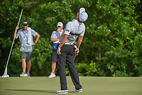 Matt Jones (AUS) reacts to missing his birdie putt on 7 during round 4 of the AT&T Byron Nelson, Trinity Forest Golf Club, at Dallas, Texas, USA. 5/20/2018.<br /> Picture: Golffile | Ken Murray<br /> <br /> All photo usage must carry mandatory copyright credit (© Golffile | Ken Murray)
