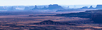 Distant panoramic view of Monument Valley from Muley Point, Utah