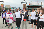 National Anthem - Hearts of Gold 7th Annual Run/Walk for Kids with proceeds from this fun family event will change the futures of homeless mothers and their children on June 3, 2017 at Pier 84 Hudson Parks, New York City, New York. It supports Hearts of Gold Annual Back to School Programs. (Photo by Sue Coflin/Max Photos)