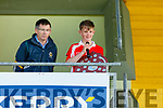 West Kerry's captain Séamas Mac Gearailt accepts the U14 County District Football Championship Plate from Reggie Griffin after their win against Castleisland District in the U14 County District Football Championship Plate final.
