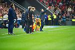 BILBAO.ESPAÑA.FÚTBOL.<br /> Partido de La Liga BBVA entre el Ath.Club y el Barça , a 01/12/2013.<br /> En la imagen :<br /> tCheftrainer Ernesto Valverde (Athletic Bilbao)<br /> 11Neymar (FC Barcelona)