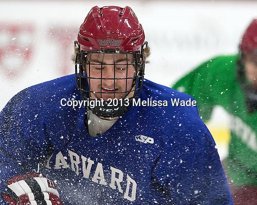 Devin Tringale (Harvard - 22) - The Harvard University Crimson practiced on Friday, October 22, 2013, at Bright-Landry Hockey Center in Cambridge, Massachusetts.