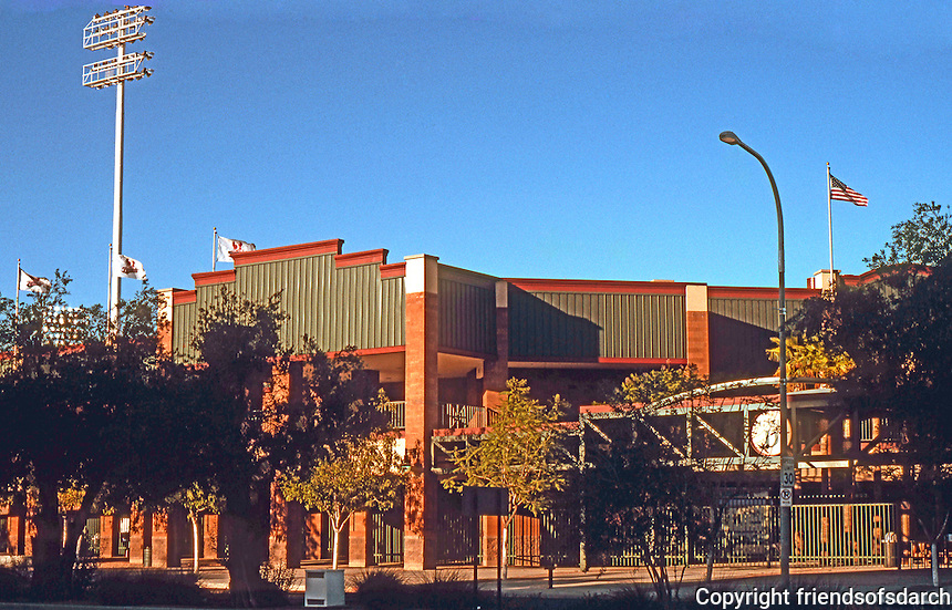 Ballparks: Phoenix, AZ. Scottsdale Stadium, 1992. Home of the PCL Phoenix Firebirds, 1992-96.