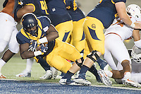 BERKELEY, CA - September 17, 2016: Cal's (23) Vic Enwere scores a touchdown against Texas at Cal Memorial Stadium.