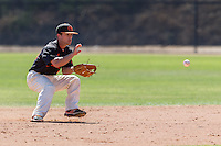 Ranked #8 nationally, Occidental College's baseball team plays against Cal Lutheran on April 22, 2016 at Anderson Field in their last home game before the SCIAC Postseason Tournament. The Tigers won 4-1.<br /> <br /> (Photo by Bob Palermini, Freelance Photographer)