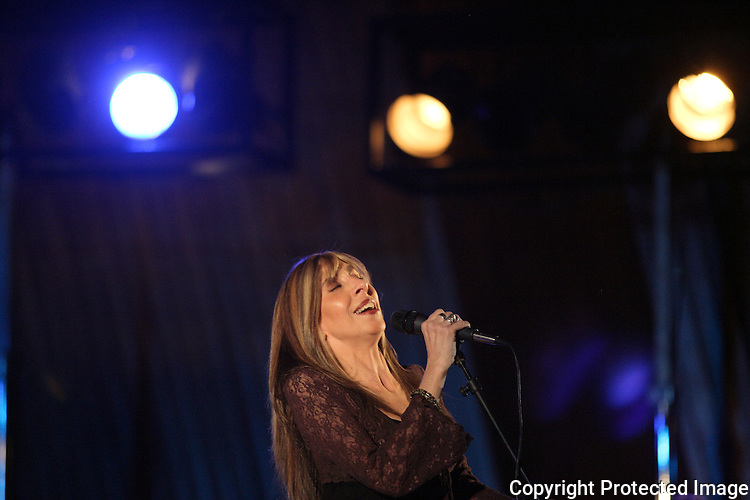 US Born Blues Singer Betsy Pecanins Sings A During Concert In Mexico City