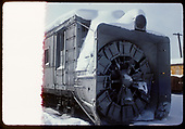 3/4 view of D&amp;RGW rotary. Front end, not a full slide.<br /> D&amp;RGW  Chama, NM