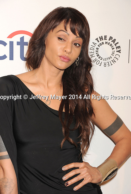 HOLLYWOOD, CA- MARCH 22: Actress Persia White attends the 2014 PaleyFest - 'The Vampire Diaries' & 'The Originals' held at Dolby Theatre on March 21, 2014 in Hollywood, California.