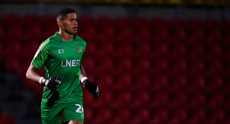 Doncaster Rovers' Seny Dieng<br /> <br /> Photographer Andrew Vaughan/CameraSport<br /> <br /> EFL Leasing.com Trophy - Northern Section - Group H - Doncaster Rovers v Lincoln City - Tuesday 3rd September 2019 - Keepmoat Stadium - Doncaster<br />  <br /> World Copyright © 2018 CameraSport. All rights reserved. 43 Linden Ave. Countesthorpe. Leicester. England. LE8 5PG - Tel: +44 (0) 116 277 4147 - admin@camerasport.com - www.camerasport.com