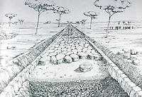 Roman Technology:  Drawing--Roman Road by D. Macauley.  Photo '84.