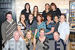 JOINT PARTY: Staff of Tralee Credit Union on Saturday night enjoying a night of celebration in the Greyhound Bar, Tralee, to mark the pending marriage of Orlaith Delaney and the departure of Margie Dineen. Pictured front l-r: Fintan Ryan, Orlaith Delaney (bride-to-be), Margie Dineen (leaving) and Mike Lynch. Middle l-r: Noel Crowley, Orla O'Shea, Katie Walsh, Helen Geary, Noreen Kelly, Christine Fitzgerald and Steve Corner. Back l-r: Suzanne Ennis, Karen Sinnott, Aisling O'Connor and Jenny Newman.   Copyright Kerry's Eye 2008