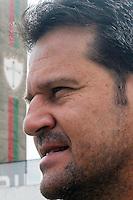 SÃO PAULO, SP, 04.02.2014 - APRESENTACAO TECNICO DA PORTUGUESA - Portuguesa apresenta novo técnico Argel Fucks,durante coletiva de imprensa nesta terça (04) no estádio do Canindé na regiao norte da cidade de Sao Paulo nesta terca-feira, 04. (Fotos: Dorival Rosa/Brasil Photo Press).