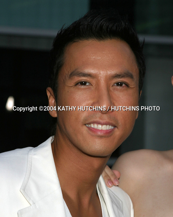 "©2004 KATHY HUTCHINS / HUTCHINS PHOTO.""HERO"" PREMIERE.LOS ANGELES, CA.AUGUST 17, 2004..DONNIE YEN."