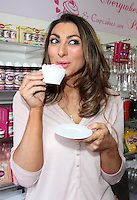 Luisa Zissman at her 'Dixies Cupcakery' shop in St Albans. The shop is due to close at the end of the month, moving to new premises in the city. St Albans, Herts, England on March 29th 2014<br /> <br /> Photo by Keith Mayhew