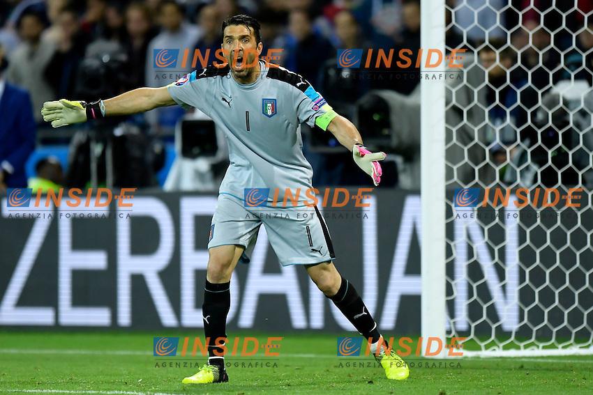 Buffon Gianluigi goalkeeper of Italy <br /> Lyon 13-06-2016 Stade de Lyon Footballl Euro2016 Belgium - Italy / Belgio - Italia Group Stage Group D. Foto photonews / Panoramic  / Insidefoto