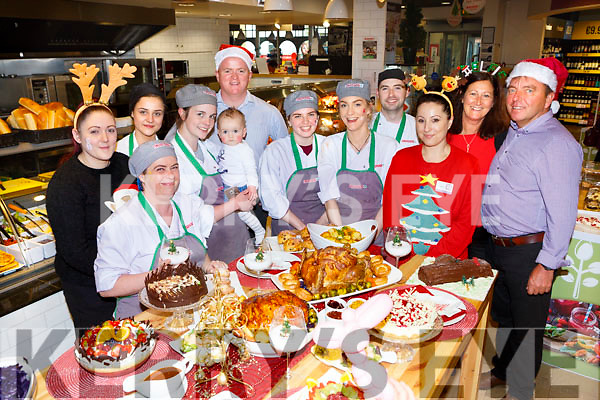 Brian Jones with his talented staff at the Jones Eurospar Christmas Food Fair in Killorglin on Saturday included are Claire Galvin, Irene McGuckin, Ieva Bataityte, Dylan Carey, Gosia Caslr, Ciara Fentan, Liah Knight, Laura and Clodagh Clifford McCarthy and Michelle Jones