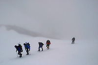 Climbing Mt Hood in Oregon.  (Photos by Anacleto Rapping ©2004)
