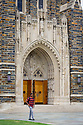 Portal of Duke Chapel, showing statues ensconced within.