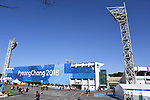 The home of Gangneung City FC (Gangneung stadium) has been transformed for the winter Olympics. Around the Gangneung Olympic park. Pyeongchang2018 winter Olympics. Gangneung. Republic of Korea. 12/02/2018. ~ MANDATORY CREDIT Garry Bowden/SIPPA - NO UNAUTHORISED USE - +44 7837 394578