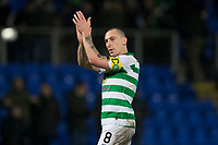 29th January 2020; McDairmid Park, Perth, Perth and Kinross, Scotland; Scottish Premiership Football, St Johnstone versus Celtic; Scott Brown of Celtic applauds the fans at the end of the match