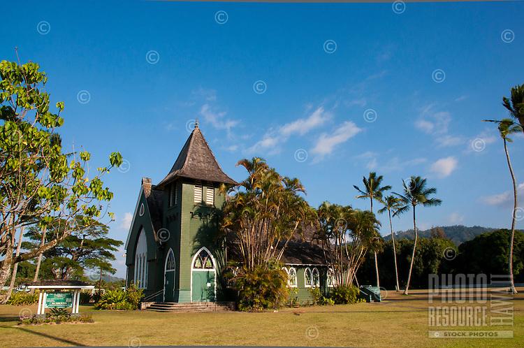 Wai'oli Hui'ia Church, Hanalei, North Shore, Kauai.