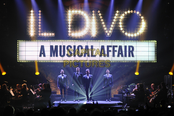 MIAMI BEACH, FL - MAY 08 : Urs B&uuml;hler, David Miller, Carlos Mar&iacute;n and S&eacute;bastien Izambard of IL Divo performs at Fillmore Miami Beach on May 8, 2014 in Miami Beach, Florida. <br /> CAP/MPI/mpi04<br /> &copy;mpi04/MediaPunch/Capital Pictures
