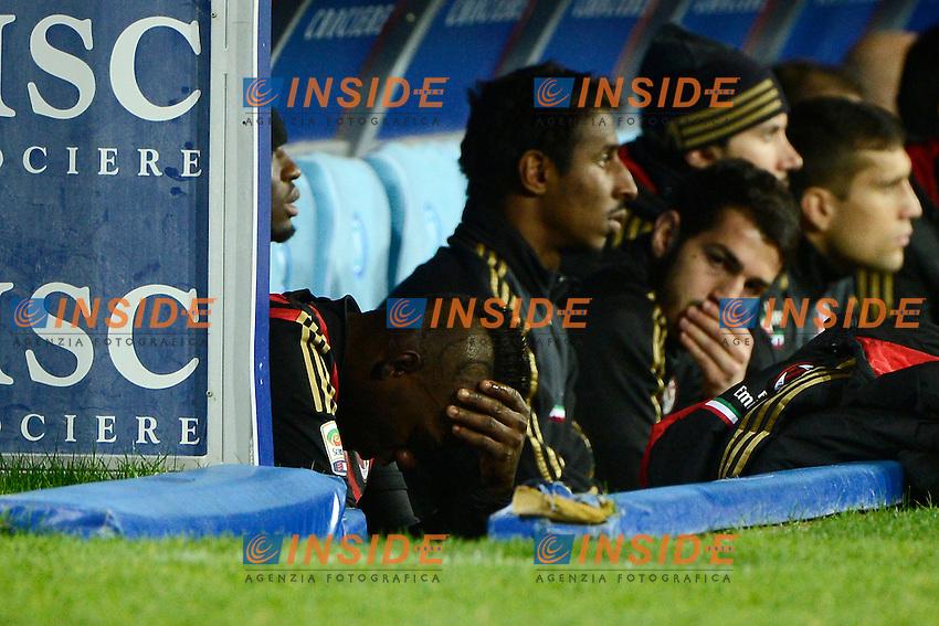 delusione Mario Balotelli Milan<br /> Napoli 08-02-2014 Stadio San Paolo - Football 2013/2014 Serie A. Napoli - Milan Foto Insidefoto