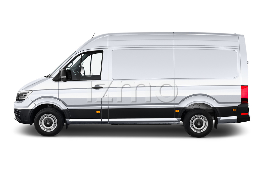 Car Driver side profile view of a 2020 Volkswagen Crafter e-Crafter 4 Door Cargo Van Side View