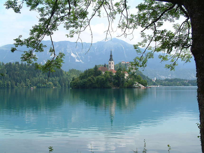 Blue Lake, Bled, Slovenia, Landscape, Mountains, Church, Lake, Beautiful,