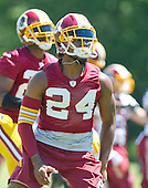 Washington Redskins cornerback Josh Norman (24)  participates in the Veteran Minicamp at Redskins Park in Ashburn, Virginia on Tuesday, June 14, 2016.<br /> Credit: Ron Sachs / CNP