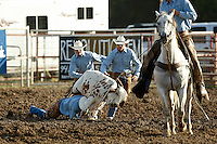 BOERNE, TX - JULY 26, 2008: The Corral Club Ring of Fire Ranch Rodeo held at the Kendall County Fairgrounds in Boerne, Texas. (Photo by Jeff Huehn)
