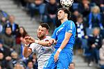 10.03.2019, Prezero-Arena, Sinsheim, GER, 1 FBL, TSG 1899 Hoffenheim vs 1. FC Nuernberg, <br /> <br /> DFL REGULATIONS PROHIBIT ANY USE OF PHOTOGRAPHS AS IMAGE SEQUENCES AND/OR QUASI-VIDEO.<br /> <br /> im Bild:  Eduard L&ouml;wen / Loewen (#17, 1. FC Nuernberg) gegen Florian Grillitsch (TSG 1899 Hoffenheim #11)<br /> <br /> Foto &copy; nordphoto / Fabisch
