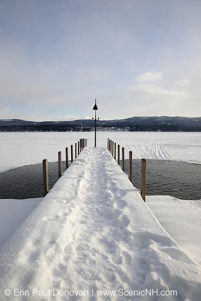 Newfound Lake from Wellington State Park during the winter months.. Located in Bristol, New Hampshire USA