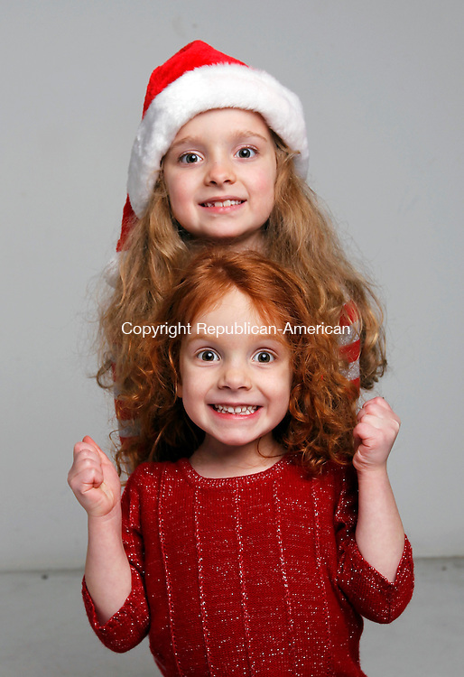 Waterbury, CT-09 December 2011-120911CM19-  Christmas Kids, Sarah, 6, and Chloe 4, Walsh of Seymour. Sarah wants a lock up light up diary and Chloe wants a Lalaloopsy doll  for Christmas.   Christopher Massa Republican-American