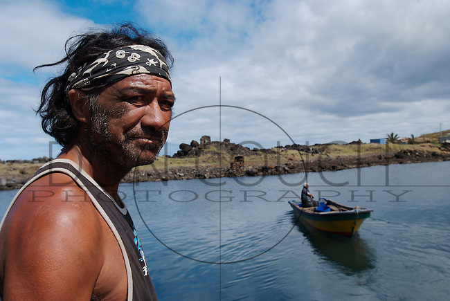 Fisherman - Easter Island, Chile