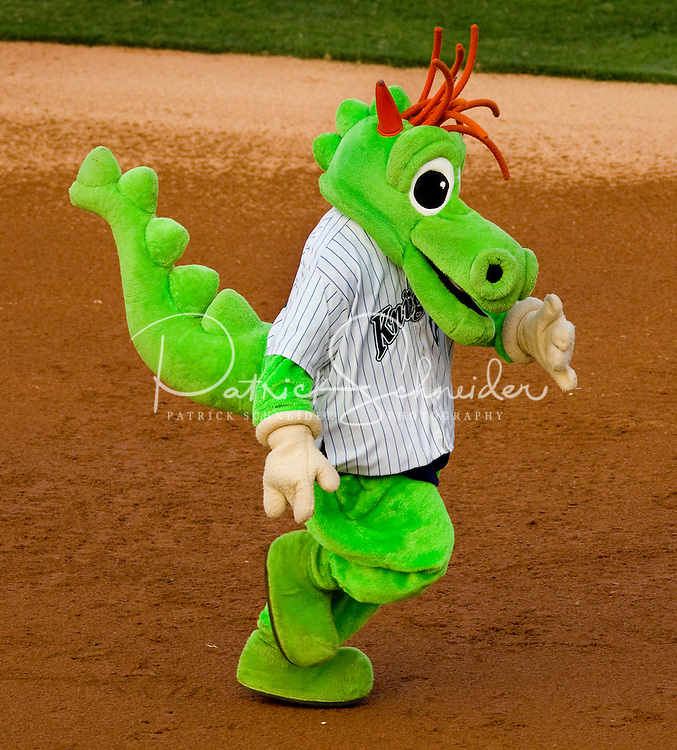 The Charlotte Knights baseball mascot during the 2008 season.