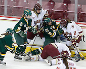 Chelsea Rapin (Vermont - 22), Hannah Westbrook (Vermont - 15), Laura Hart (BC - 27), Celeste Doucet (Vermont - 12), Kristina Brown (BC - 2) - The University of Vermont Catamounts defeated the Boston College Eagles 5-1 on Saturday, November 7, 2009, at Conte Forum in Chestnut Hill, Massachusetts.